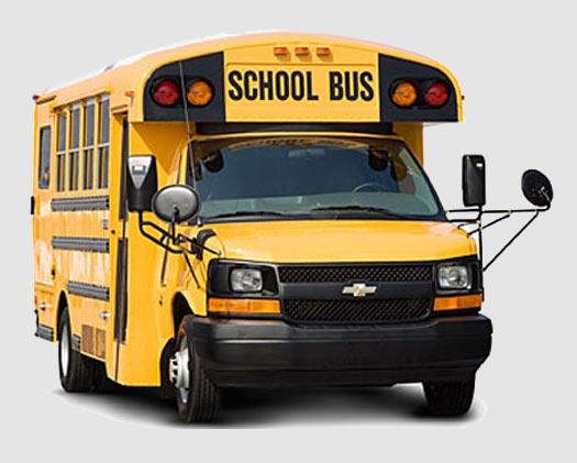 The Minotaur bus front view
