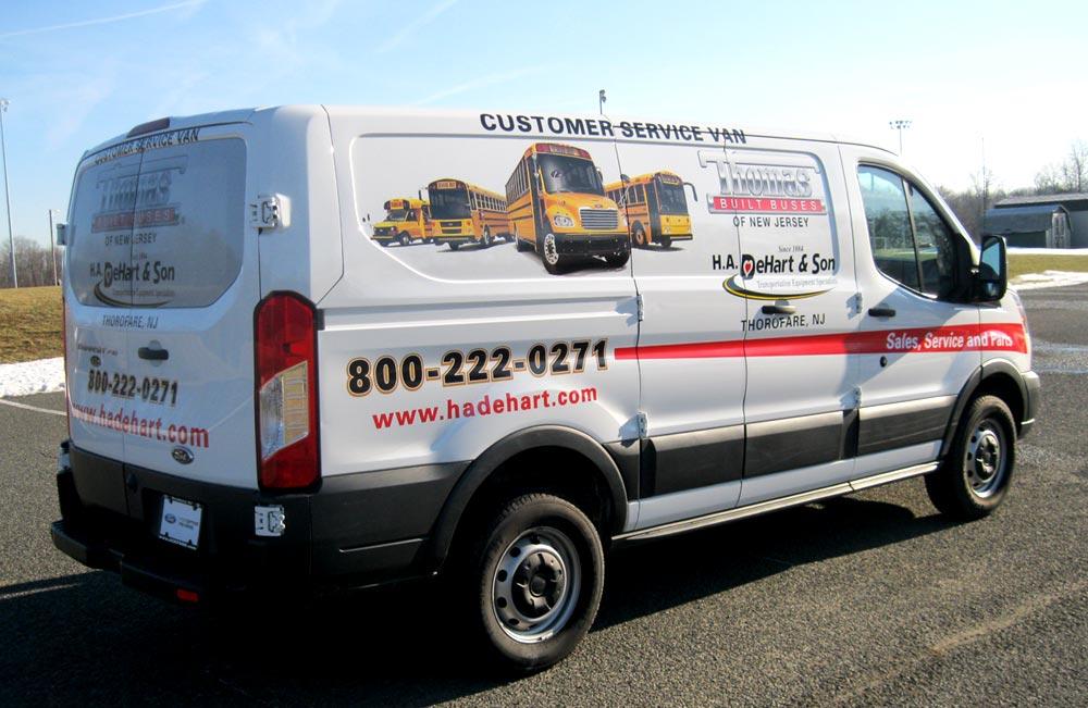 Service van with logos