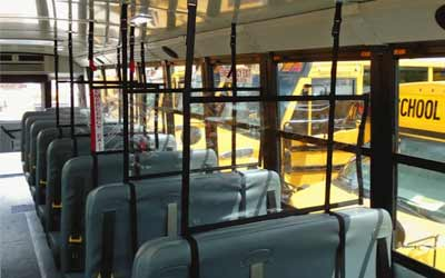 COVID-19 School Bus Seat Divider
