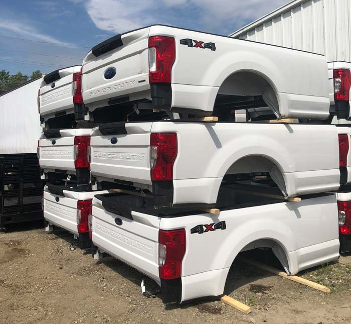 Ford Pickup beds stacked up on themselves
