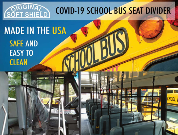 Safe Shield COVID-19 School Bus Safety Divider